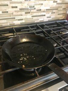 eggs residue cast iron